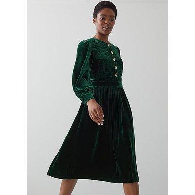 Sigrid Green Silk Dress, Green