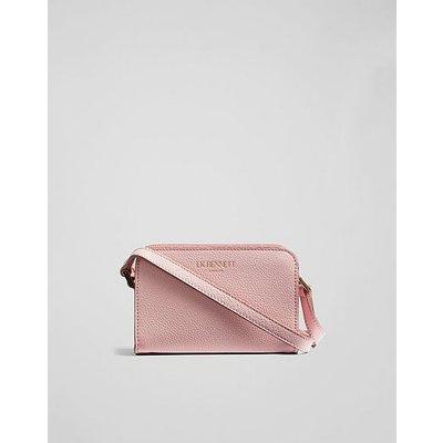 Mini Marie Pink Grainy Leather Shoulder Bag, Pink