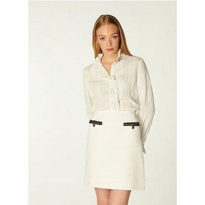 Charlee Cream Tweed Skirt, Cream