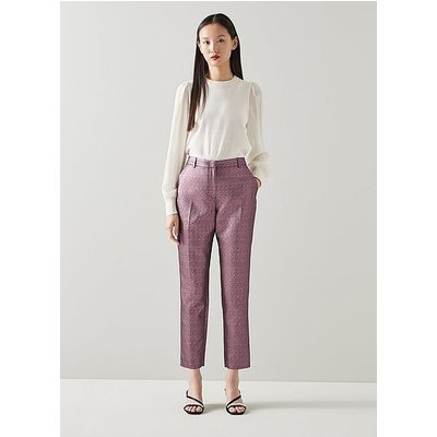 Issy Pink Sparkly Tailored Trousers, Pink