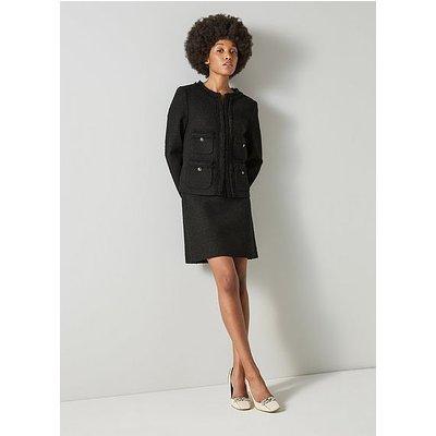 Charlee Black Tweed Jacket, Black