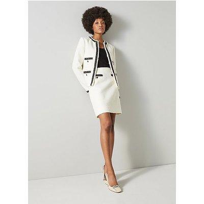 Charlee Cream Tweed Jacket, Cream