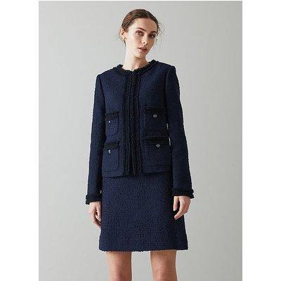 Charlee Navy Tweed Jacket, Navy