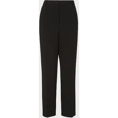 Frieda Black Crepe Cigarette Trousers, Black