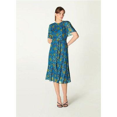 Eve Ultrablue Silk Dress, Ultrablue