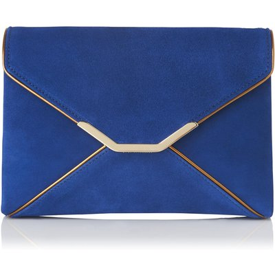 Alena Blue Suede Mirror Clutch