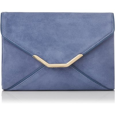 Alena Blue Suede Clutch