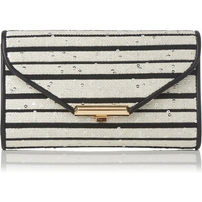 Sissi Black White Jacquard Clutch