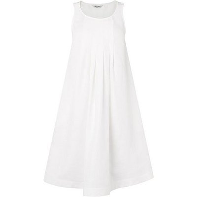 Brodie White Linen Dress, White