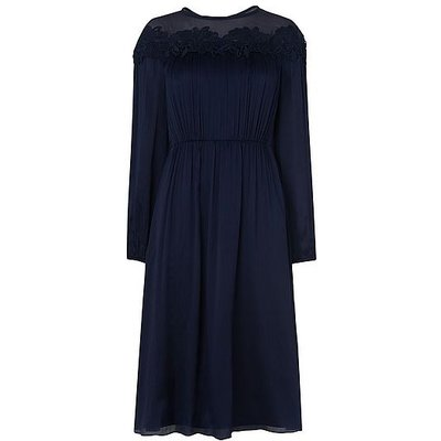 Isabel Navy Silk Dress, Navy