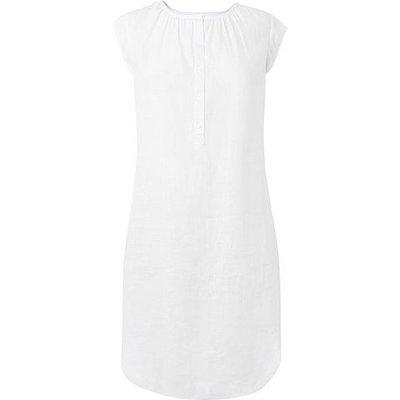 Karla White Linen Dress, White