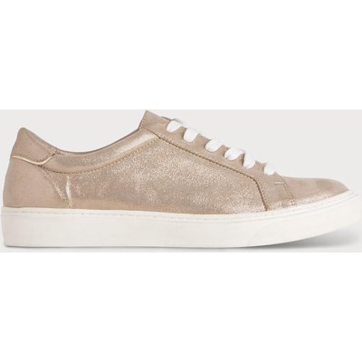 Rina Gold Lace Up Trainers