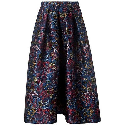 Aurorie Blue Floral Skirt, Blue Floral