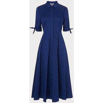 Darly Royal Cotton Elastane Dress, Royal
