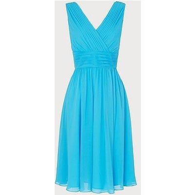 Lori Blue Silk Midi Dress, Light Blue