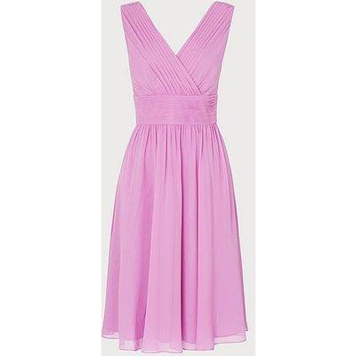 Lori Lilac Silk Midi Dress, Lilac
