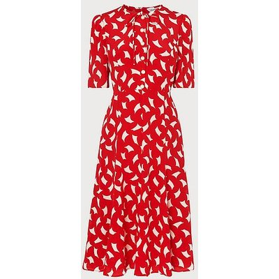 Montana Red Sail Print Silk Tea Dress