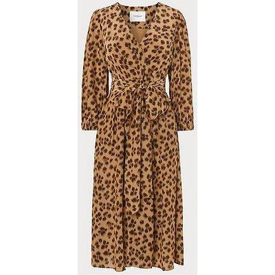 Roman Leopard Print Midi Dress, Leopard Print