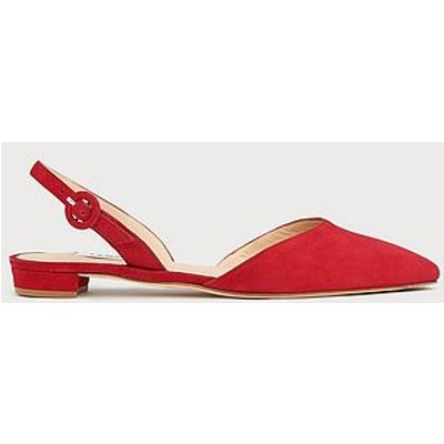 Leanne Red Suede Flat Slingbacks