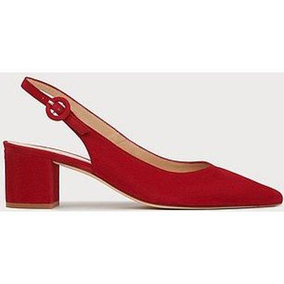 Ada Red Suede Block Heel Slingbacks, Roca Red
