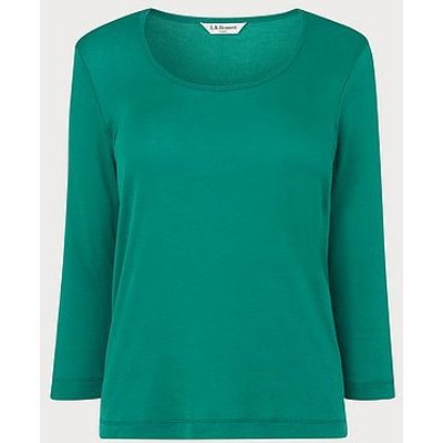 Jane Green Cotton Jersey Top, Malachite