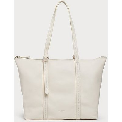 Blake Cream Leather Tote Bag