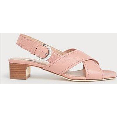 Noah Pink Crossover Sandals, Dusky Pink