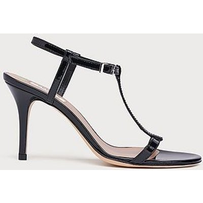 North Black Patent T-Bar Sandals