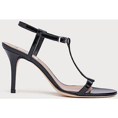 North Black Patent T-Bar Sandals, Black