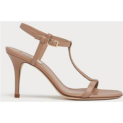 North Beige Leather T-Bar Sandals, Trench