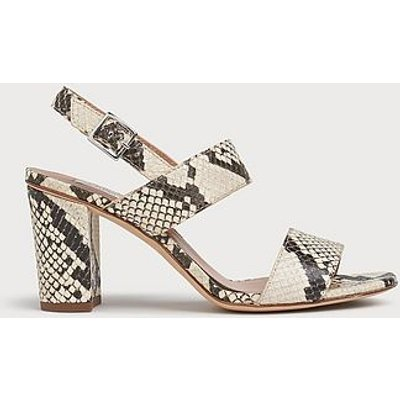 Rhiannon Snake Print Leather Sandals