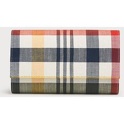 Dayana Checked Fabric Clutch, Red