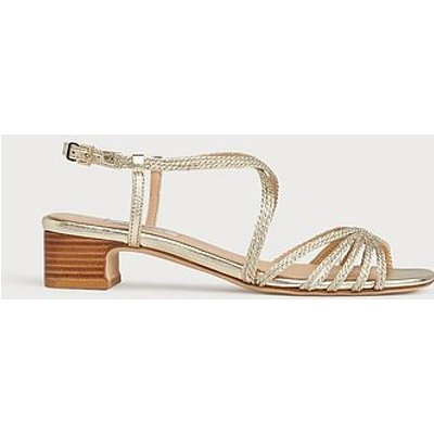 Newport Gold Rope Strappy Sandals, Soft Gold
