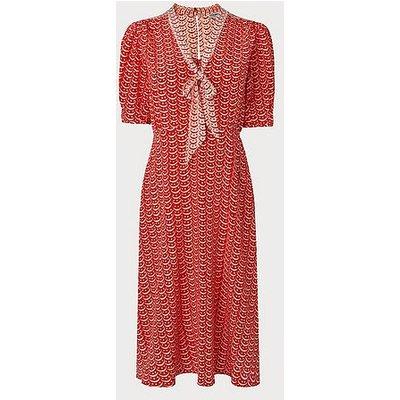 Asa Red Multi Silk Dress, Red Multi