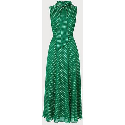 Connie Green Silk Dress, Green