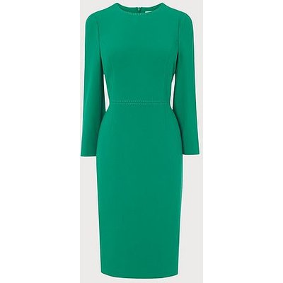 Everett Green Crepe Shift Dress, Emerald