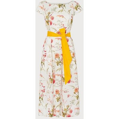 Glenda Roseau Floral Print Cotton Dress, White