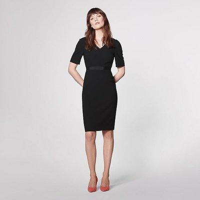Isla Black Crepe Shift Dress, Black