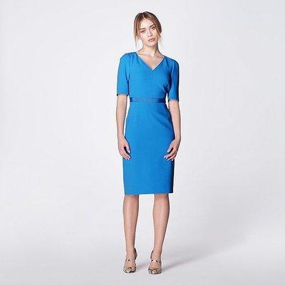 Isla Blue Crepe Shift Dress, Electric