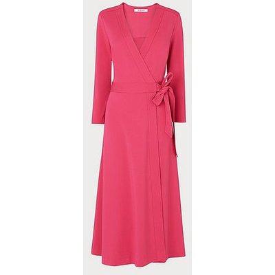 Juno Raspberry Pink Wrap Dress, Raspberry