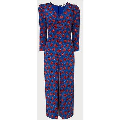 Lilou Poppy Print Silk Jumpsuit, Poppy