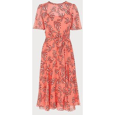 Mimi Pink Bow Print Silk Dress, Pink Multi