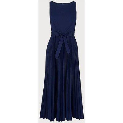 Patti Blue Cotton Pleated Dress, Indigo