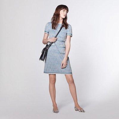 Sidney Blue Tweed Shift Dress, Multi