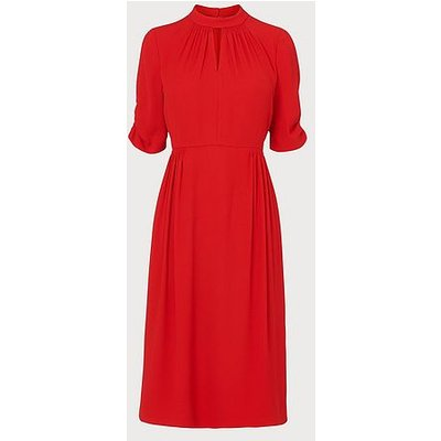Veronique Red  Dress, Red