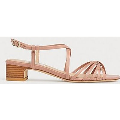 Newport Pink Leather Strappy Sandals, Clay