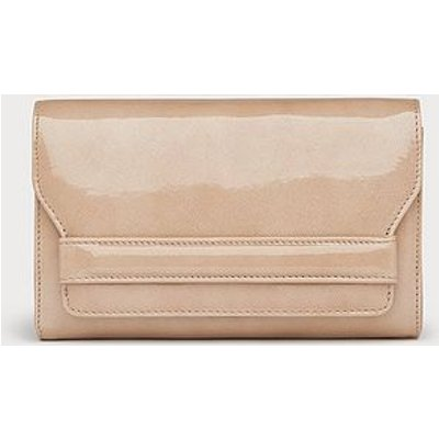 Mini Ella Beige Patent Clutch Bag, Trench