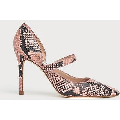 Florence Candy Snake Print Pointed Courts, Snake Print