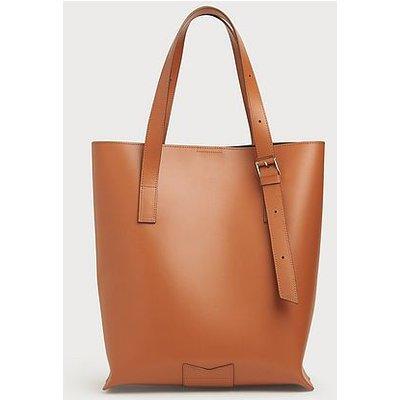 Larissa Dark Tan Leather Tote Bag, Dark Tan