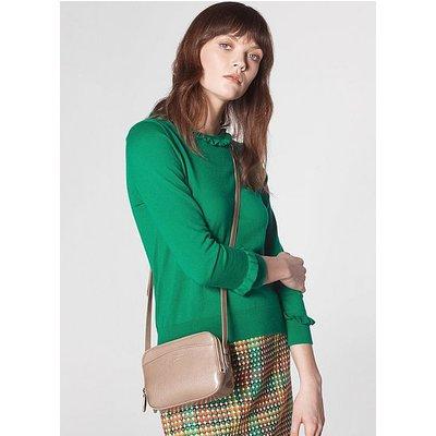 Mariel Beige Leather Shoulder Bag, Trench